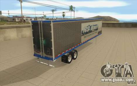 Trailer for Truck Optimus Prime for GTA San Andreas back left view