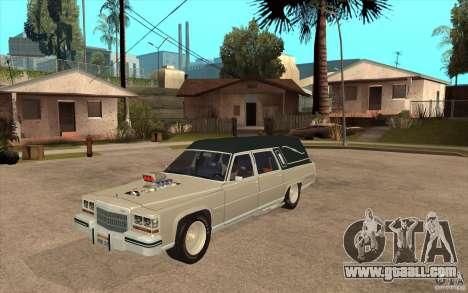 Cadillac Fleetwood 1985 Hearse Tuned for GTA San Andreas