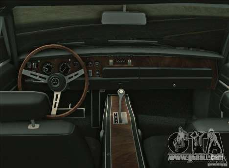 Dodge Charger RT 1969 for GTA Vice City inner view