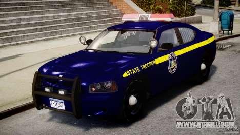Dodge Charger New York State Trooper CHGR-V2.1M for GTA 4 left view