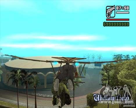 Flying machine by Leonardo da Vinci for GTA San Andreas second screenshot