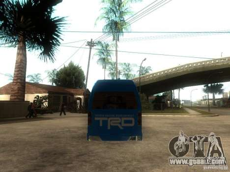 Toyota Commuter VIP Van for GTA San Andreas back left view