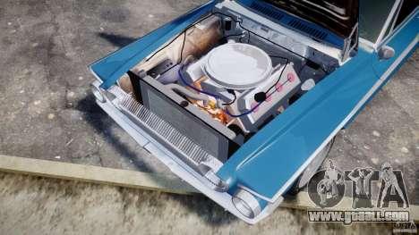 Dodge Dart 440 1962 for GTA 4 inner view