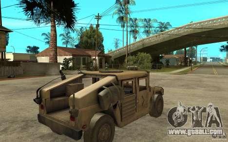 Hummer H1 War Edition for GTA San Andreas right view
