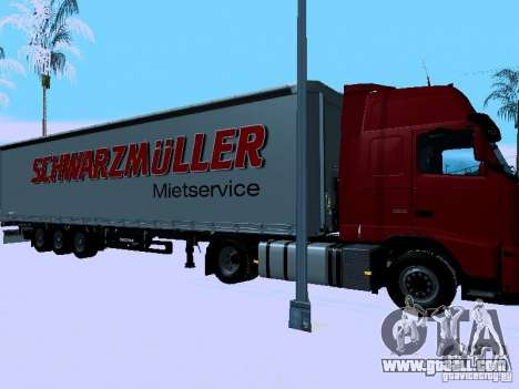 Trailer for Volvo FH13 for GTA San Andreas