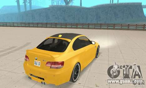 BMW M3 2008 Hamann v1.2 for GTA San Andreas right view