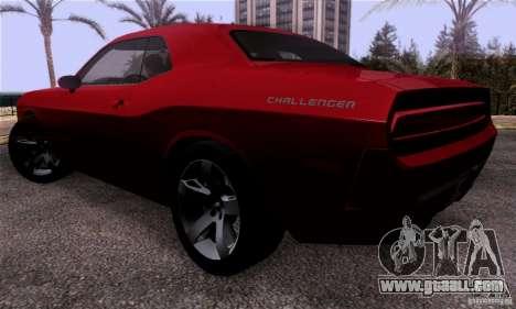 Dodge Challenger SRT8 for GTA San Andreas back left view