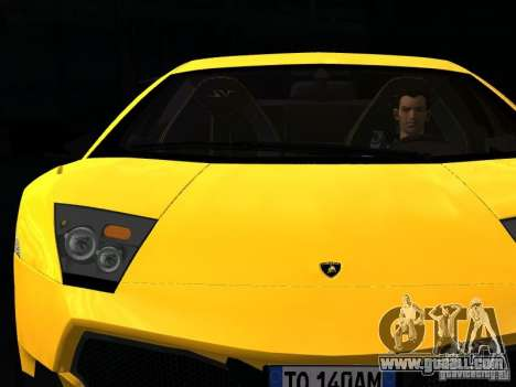 Lamborghini Murcielago LP670-4 sv for GTA San Andreas bottom view