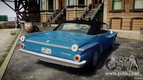 Dodge Dart 440 1962 for GTA 4 back left view