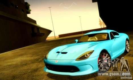 Dodge Viper SRT  GTS for GTA San Andreas interior