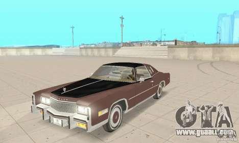 Cadillac Eldorado Biarritz 1978 for GTA San Andreas