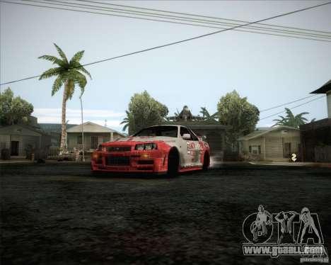 Nissan Skyline Z-Tune v2.0 for GTA San Andreas inner view