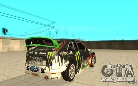 Ford Focus RS WRC 08 for GTA San Andreas side view