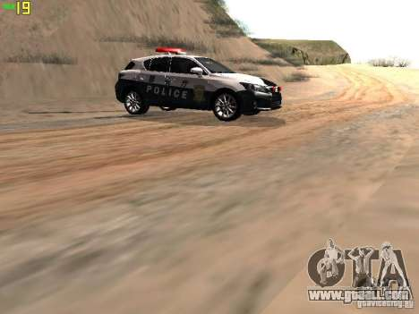 Lexus CT200H Japanese Police for GTA San Andreas back view