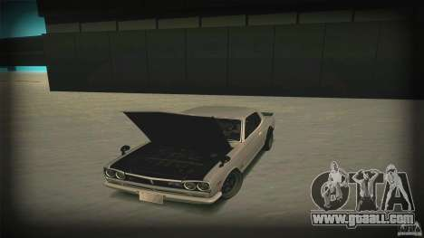 Nissan Skyline 2000GT-R JDM Style for GTA San Andreas bottom view