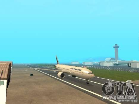 Boeing 777-200 Air France for GTA San Andreas left view