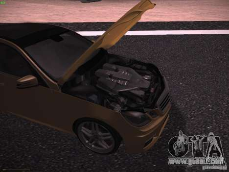 Mercedes-Benz E63 AMG for GTA San Andreas back view