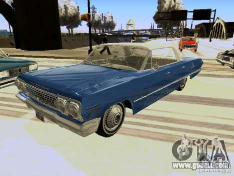 Chevrolet Impala 4 Door Hardtop 1963 for GTA San Andreas