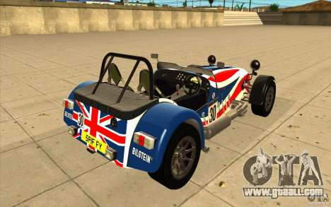 Caterham Superlight R500 for GTA San Andreas bottom view