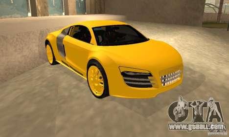 Audi R8 Custom for GTA San Andreas back view