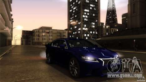 Lexus GS350F Sport 2013 for GTA San Andreas right view