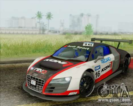 Audi R8 LMS GT3 for GTA San Andreas side view