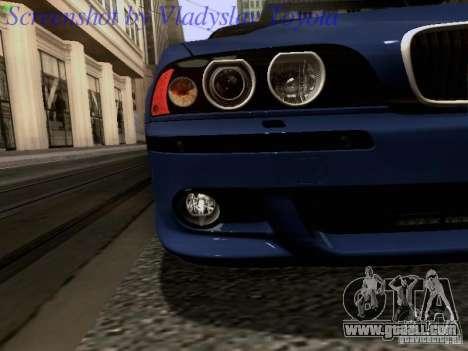 BMW E39 M5 2004 for GTA San Andreas interior
