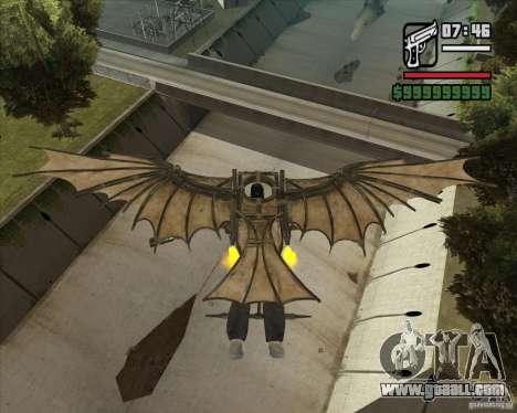 Flying machine by Leonardo da Vinci for GTA San Andreas