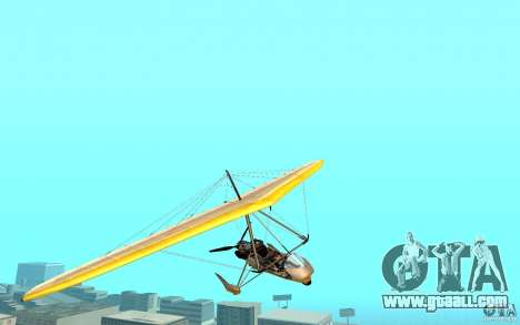 Hang Glider for GTA San Andreas back left view