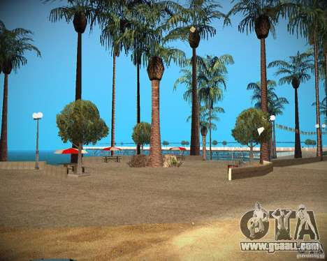 New textures beach of Santa Maria for GTA San Andreas third screenshot