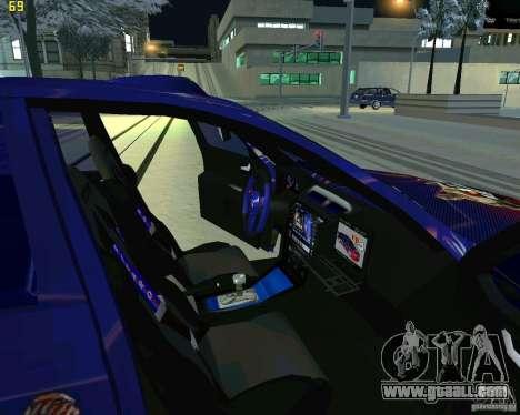 Skoda Octavia III Tuning for GTA San Andreas inner view