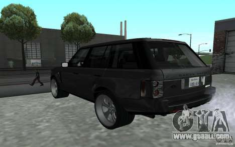 Land Rover Supercharged for GTA San Andreas back left view
