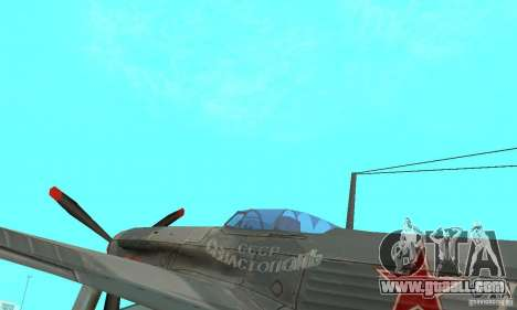 The yak-9 in livery, Sevastopol for GTA San Andreas back view