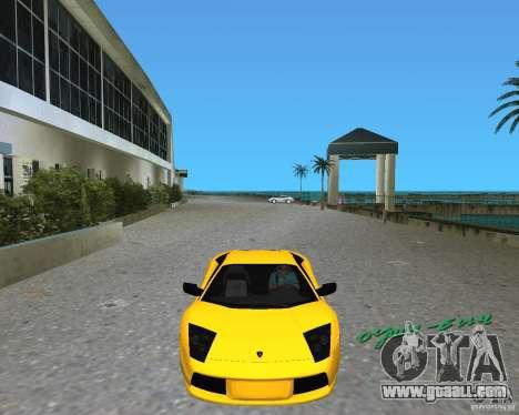 2005 Lamborghini Murcielago for GTA Vice City left view