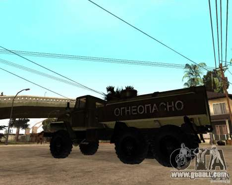 Ural 4320 Truck for GTA San Andreas back left view
