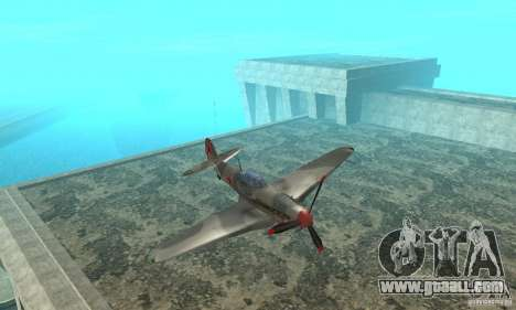 The yak-9 in livery, Sevastopol for GTA San Andreas inner view