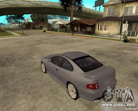 2005 Pontiac GTO for GTA San Andreas left view