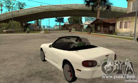 Mazda MX-5 JDM Convertible for GTA San Andreas back left view