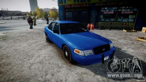 Ford Crown Victoria Detective v4.7 [ELS] for GTA 4 right view