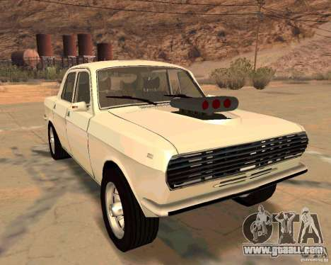 GAZ Volga 2410 Hot Road for GTA San Andreas upper view