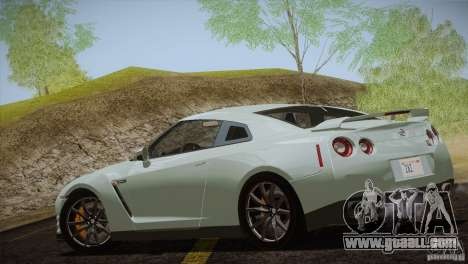 Nissan GTR Black Edition for GTA San Andreas back view
