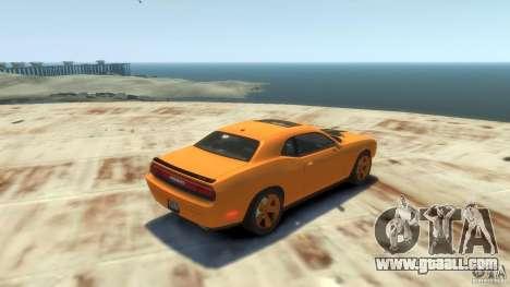 Dodge Challenger SRT8 for GTA 4 back view