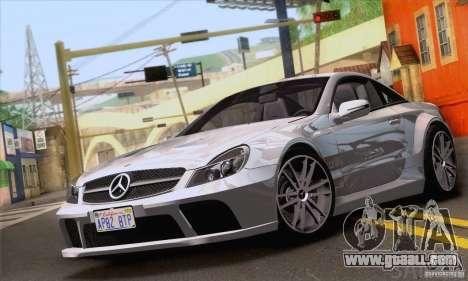 Mercedes-Benz SL65 AMG Black Series for GTA San Andreas upper view