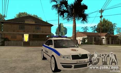 Skoda SuperB GEO Police for GTA San Andreas back view