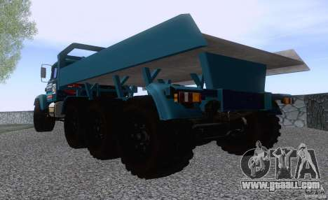 KrAZ 7140H6 Trial for GTA San Andreas back left view