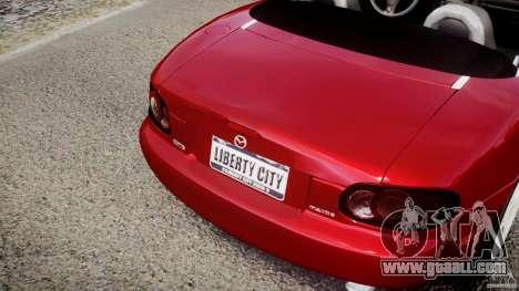Mazda MX-5 Miata for GTA 4 bottom view