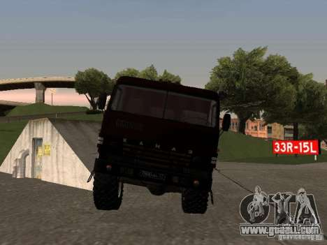 KAMAZ 4310 parade for GTA San Andreas back left view