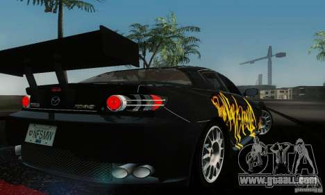 Mazda RX-8 Tuneable for GTA San Andreas back left view