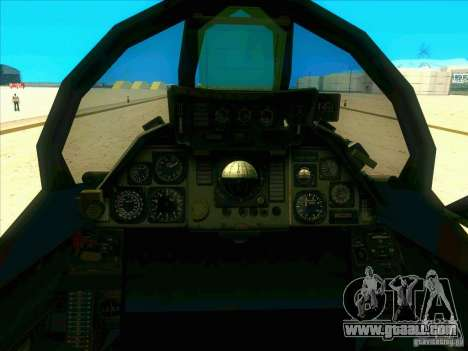 F-14 Tomcat Schnee for GTA San Andreas side view