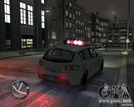 Mazda 3 Police for GTA 4 left view